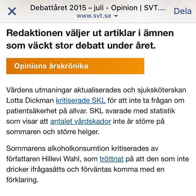 SVT listar debattåret. Jag kan häpna över att ickedrickandet fortfarande är så kontroversiellt.