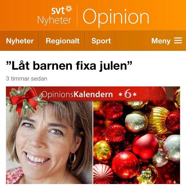 Sluta stressa - låt barnen fixa julen. Http://www.svt.se/opinion/hilleviw-om-jul