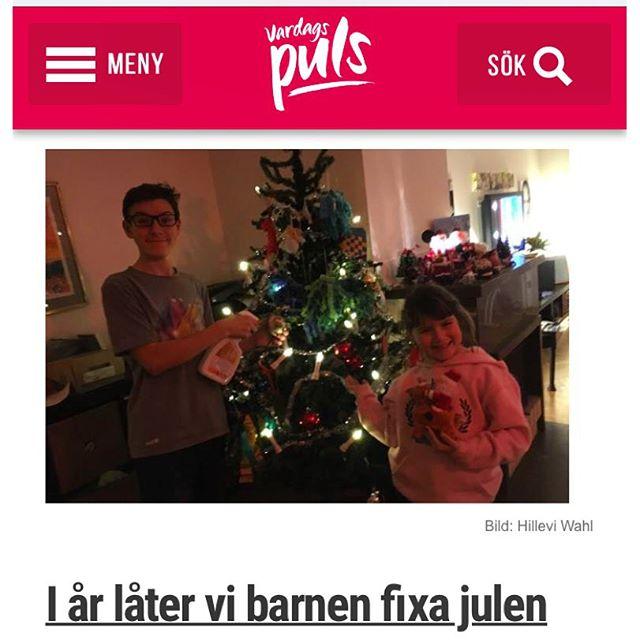 Underbara ungar. De fixar julen. Och jag hinner träna. Http://www.vardagspuls.se/bloggar/hillevi-wahl/i-ar-later-vi-barnen-fixa-julen/