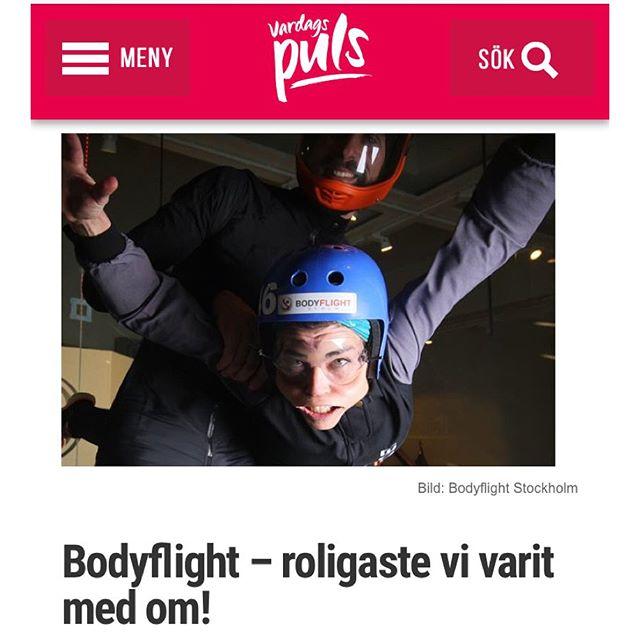 Ibland måste man våga sig lite utanför komfortzonen. Och låta kinderna fladdra fritt. Här är hela härliga blogginlägget, filmen och roliga fakta om Bodyflight Stockholm.