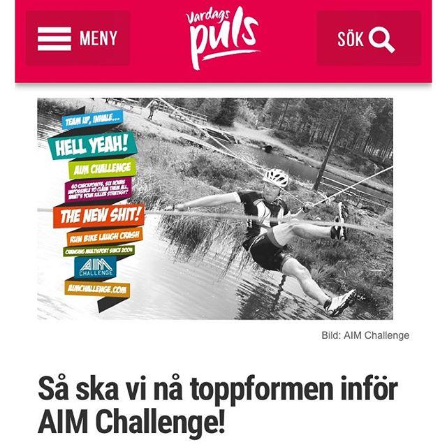 Minns ni att jag överraskade och utmanade Gunnar med ett multisportäventyrslopp? AIM Challenge. Här är en update om hur det går för oss. Plus min masterplan för hur vi ska öka och komma i toppform. @aimchallenge http://www.vardagspuls.se/bloggar/hillevi-wahl/sa-ska-vi-na-toppformen-infor-aim-challenge/
