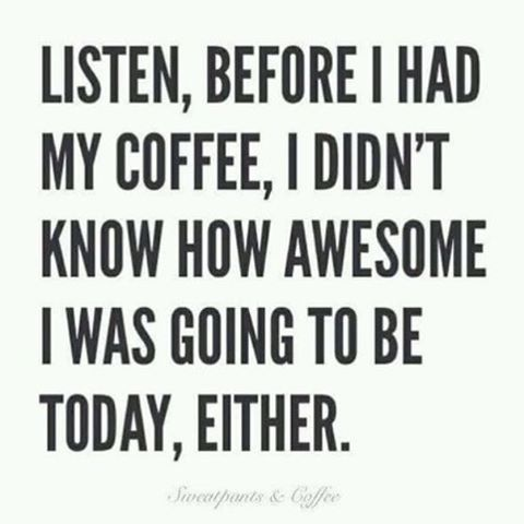 Hörni. Jag tror bestämt att det är dags för en kopp kaffe. Precis exakt nu. Det förtjänar vi.