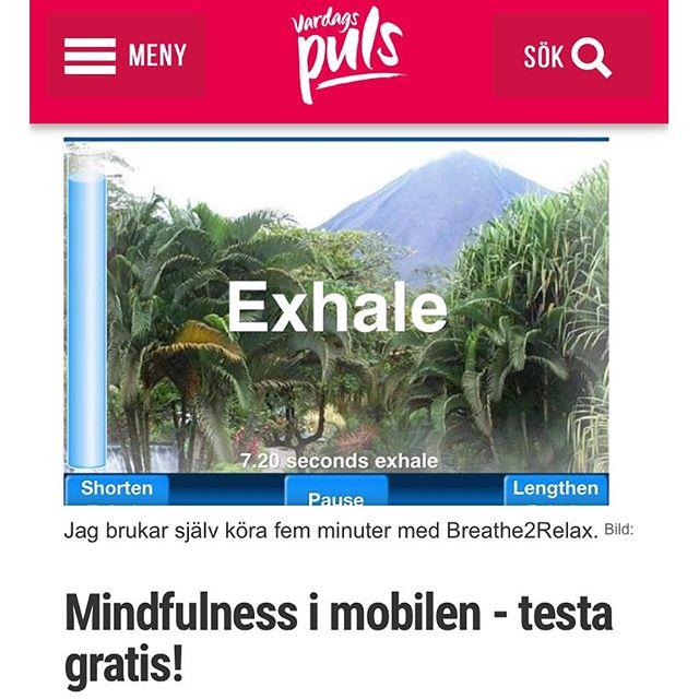 Lilla antistresskolan: Testa mindfulness i en liten app. Funkar förvånansvärt bra. http://www.vardagspuls.se/bloggar/hillevi-wahl/mindfulness-i-mobilen---testa-gratis/