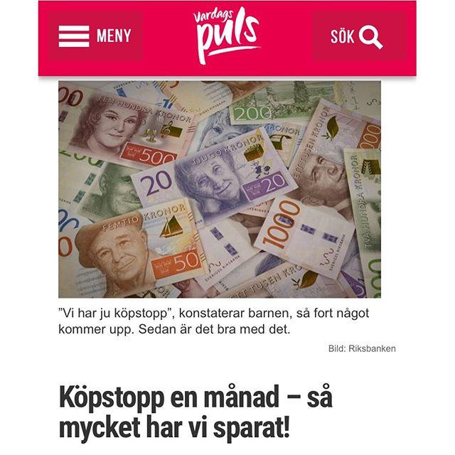 Rapport efter en månad. http://www.vardagspuls.se/bloggar/hillevi-wahl/kopstopp-en-manad--sa-mycket-har-vi-sparat/
