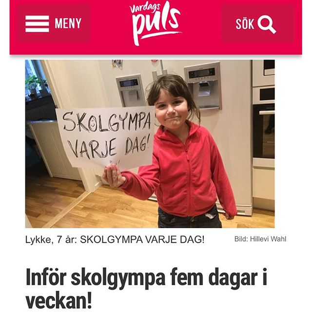 Fem gånger i veckan! Det är lagom. Http://www.vardagspuls.se/bloggar/hillevi-wahl/infor-skolgympa-fem-dagar-i-veckan/