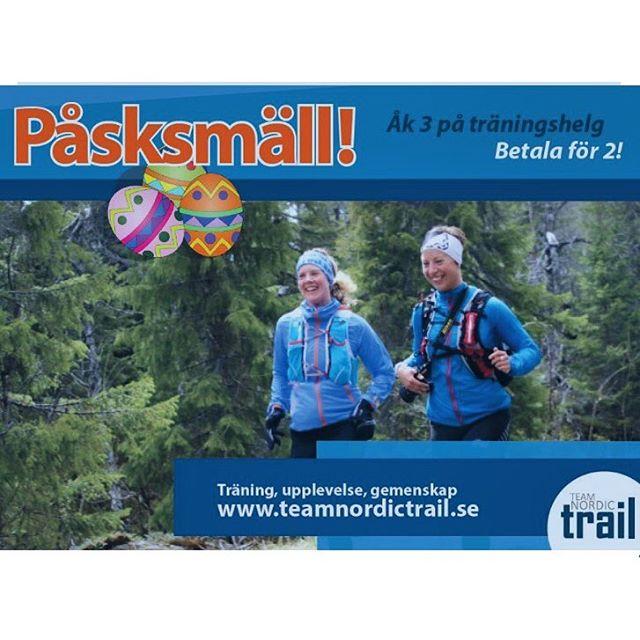 Häng med mig till vackra Järvsö på löparläger 14-15 maj: Påsksmäll hos Team Nordic Trail! Åk 3 på träningshelg – Betala för 2! Upplev Järvsö på en gedigen träningshelg för alla nivåer. Vi inkluderar funktionell styrka, löpteknik och såklart en hel del upplevelselöpning. I priset ingår boende på Bergshotellet, helpension och mycket mer. Istället för ordinarie pris 2995kr betalar ni 3 vänner endast 1995kr per person. Anmäl er senast 28 mars! Läs mer om lägret här: https://www.teamnordictrail.se/loparresor/jarvso-traningshelg/