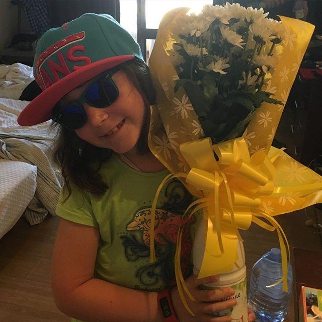 Jag fick blommor efter föreläsningen i går. Av bästa tjejen.