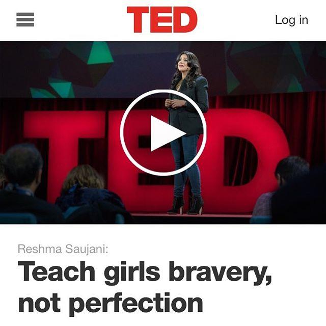 Kvinnodagen! Detta är min gåva till er! Femton minuter som kan förändra era liv. Och era döttrars. Se den! Teach girls bravery, not perfection http://www.ted.com/talks/reshma_saujani_teach_girls_bravery_not_perfection