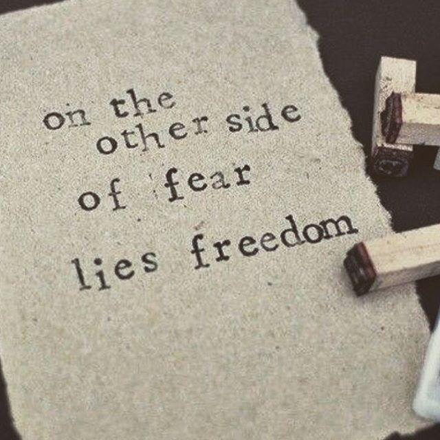 Låt inte rädslorna hindra er från att göra det ni drömmer om! Tack @the_mind_body_spirit_tribe