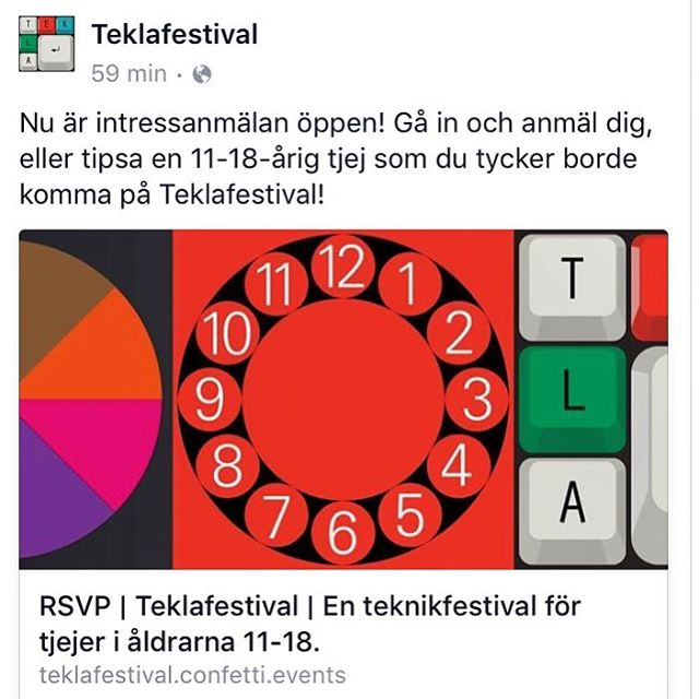 Tjejer! Bästa roligaste grejen. Https://teklafestival.confetti.events/rsvp