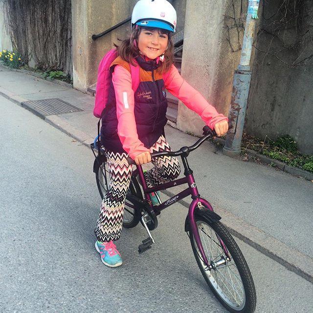Lyckan över en ny cykel! Tusen tack @kristinathulin - kärlek.