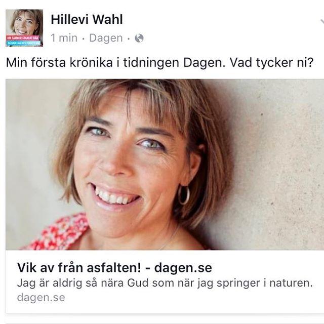 Min första krönika i tidningen Dagen. Vad tycker ni? Http://www.dagen.se/kronikor/vik-av-frn-asfalten-1.717289