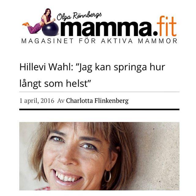 Stoooor intervju med mig på mamma.fit - jag försöker vara ärlig. Med allt. Ni får bedöma om jag lyckas. Http://mamma.fit/2016/04/01/991/