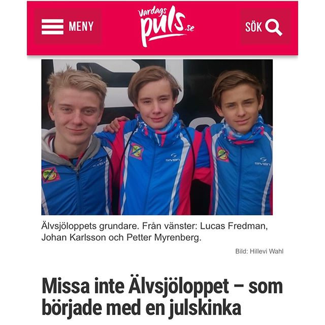 En del lopp gör mig lite lyckligare än andra. Som Älvsjöloppet, startat av tre trettonåringar. Missa inte det! Här berättar jag varför: Http://www.vardagspuls.se/bloggar/hillevi-wahl/