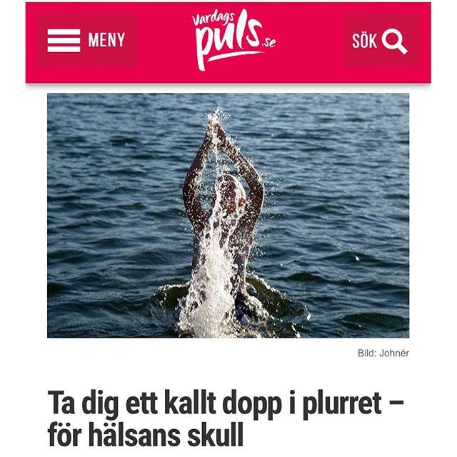Jag säger ju det! Let's hoppdoppa! http://www.vardagspuls.se/kropp--halsa/darfor-ar-det-sa-bra-for-halsan-att-bada-kallt/
