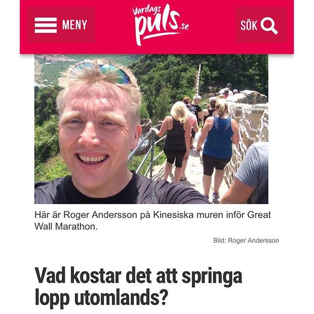 Ni missar väl inte Rogers bästa tips för er som är sugna att springa lopp utomlands? Hur gör man? Vad kostar det? Vilka lopp är bäst? Ni får gärna hjälpa till och berätta om era häftigaste, vackraste och roligaste lopp utanför Sverige. Vilka är era favoriter? Åkte ni med arrangerade resor - eller fixade ni själva? Berätta! http://www.vardagspuls.se/bloggar/hillevi-wahl/vad-kostar-det-att--springa-lopp-utomlands/