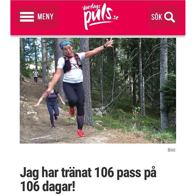 Wow! Vilken grej! Http://www.vardagspuls.se/bloggar/hillevi-wahl/jag-har-tranat-106-pass-pa-106-dagar/