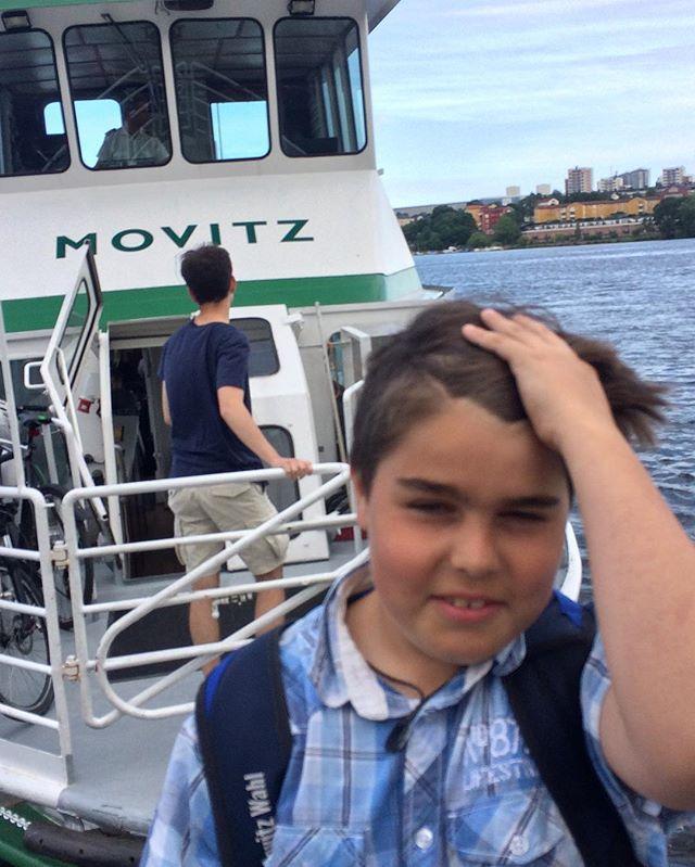Äntligen fick han åka Movitz-båten!