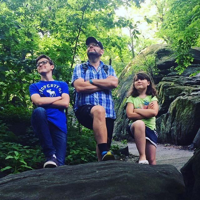 Familjen. Central Park. Vackert.