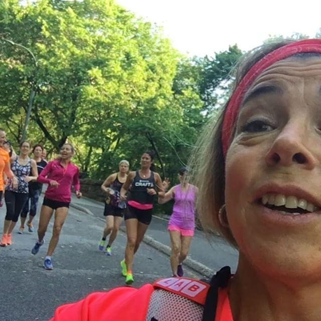 Glädjen! Hoppsanskutt! Morgonjogg i Central Park.