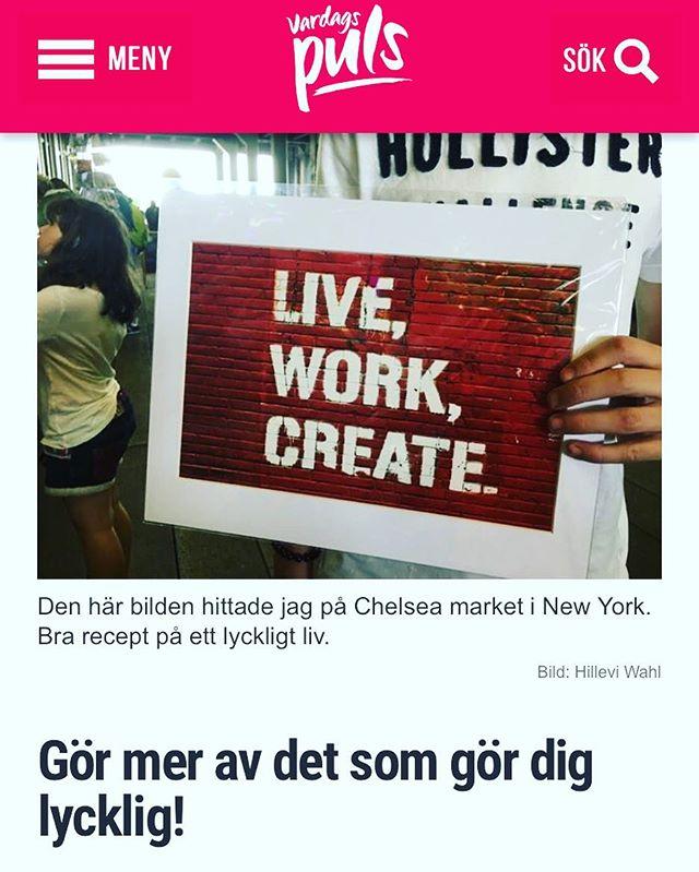 Gör mer av det som gör dig lycklig! Dagens blogginlägg. http://www.vardagspuls.se/bloggar/hillevi-wahl/gor-mer-av-det-som-gor-dig-lycklig/