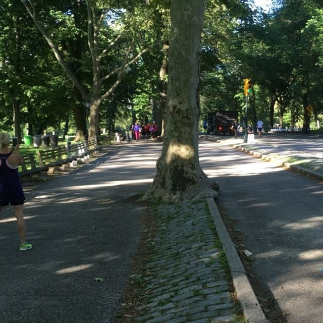 I morse övade vi målgång och målgester i Central Park. Www.springtime.se