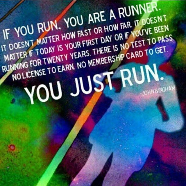 Jag har så svårt att kalla mig en löpare. Trots att jag bevisligen sprang förra året. Egentligen så är det ju så här enkelt: Om du springer - oavsett hur långt, hur fort eller hur fladdrigt - så är du en löpare. You just run.