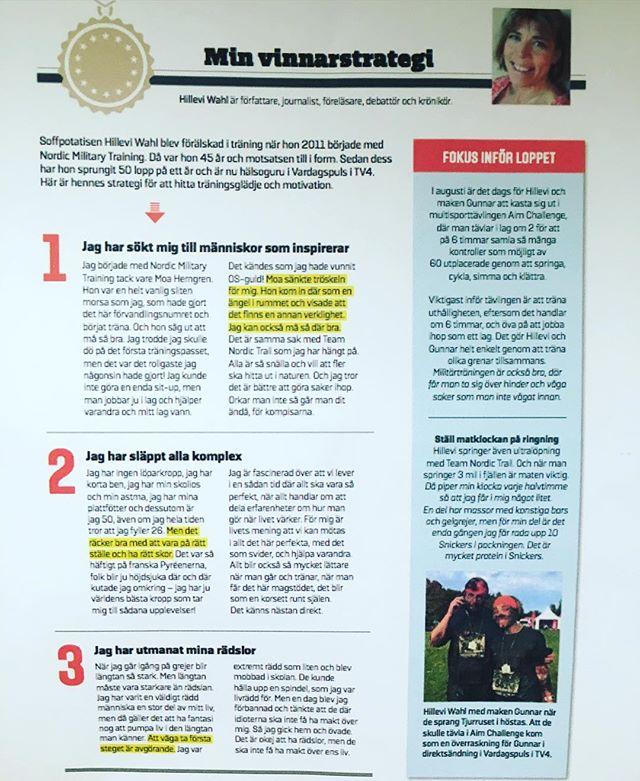 Mina vinnarstrategier! I tidningen iForm. @iform_sv people