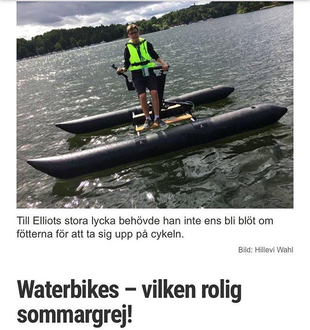 Rapport från böljan den blå och lite fakta. Plus filmen. @specielliot @stockholmwaterbikes Http://www.vardagspuls.se/bloggar/hillevi-wahl/waterbikes--vilken-rolig-sommargrej/