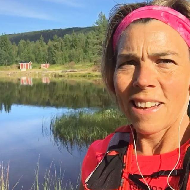 Runstreak runt Fiskarsjön i Sälen. Vilken underbar morgon!