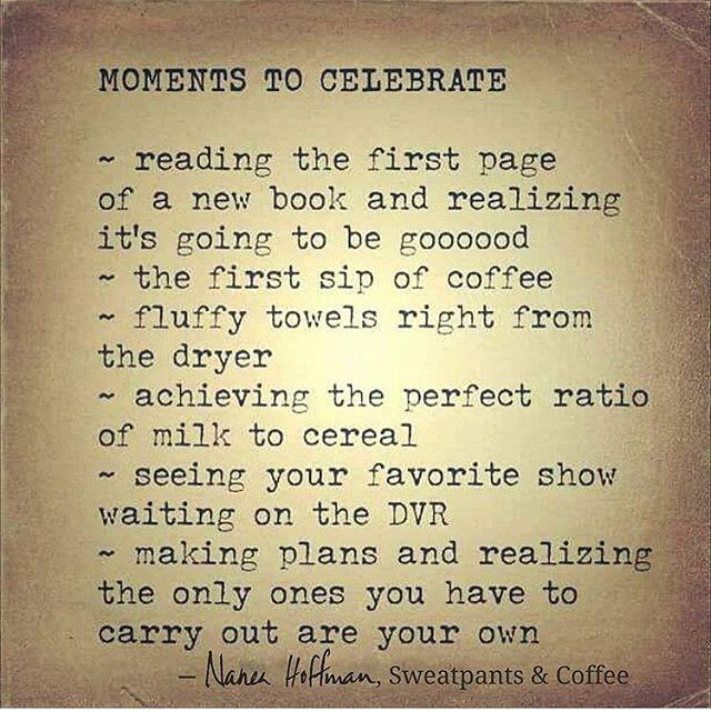 Ögonblick att fira.