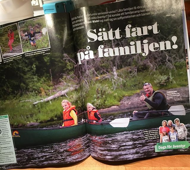 Missa inte 5 sidor äventyr med familjen Wahl-Johansson i Aftonbladet Söndag! Så himla snyggt. Tack redigeraren! @aftonbladetsondag @springtimetravel @aimchallenge