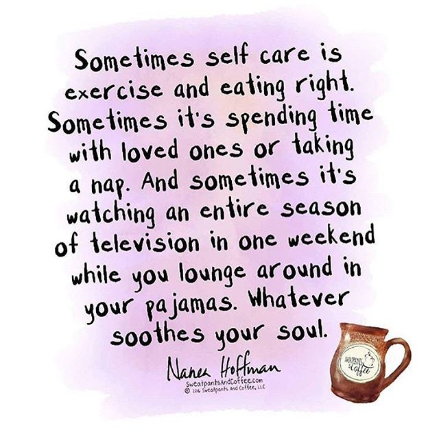 Self care. Hur skulle vi översätta det? Självomtanke? Tack @sweatpantsandcoffee