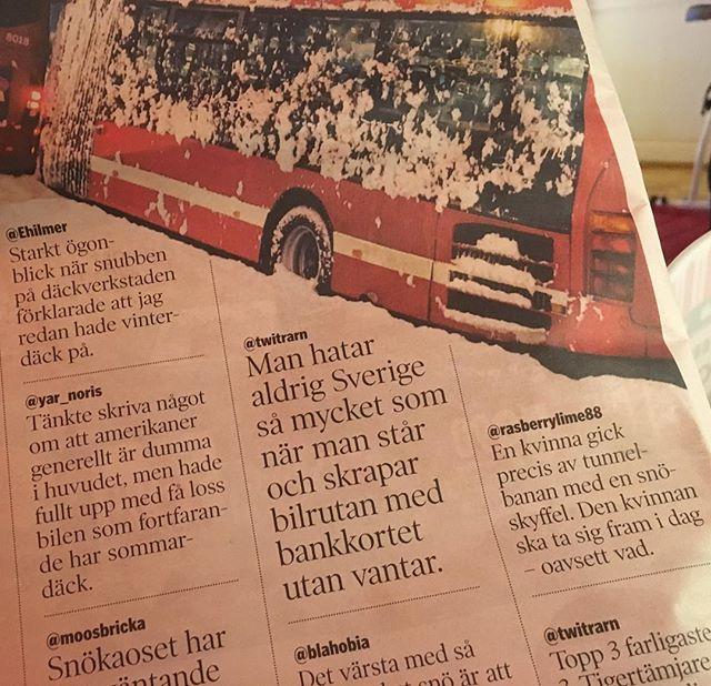Årets roligaste sida? Vårt Kungsholmen har samlat bästa snökaos-tweetsen.