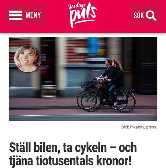 Tjäna tiotusentals kronor på att cykla till jobbet! @lillen4fun , @lilleshine och fina familjen berättar hur de gör. Http://www.vardagspuls.se/kropp--halsa/ny-sidstall-bilen-ta-cykeln--och--tjana-tiotusentals-kronor/