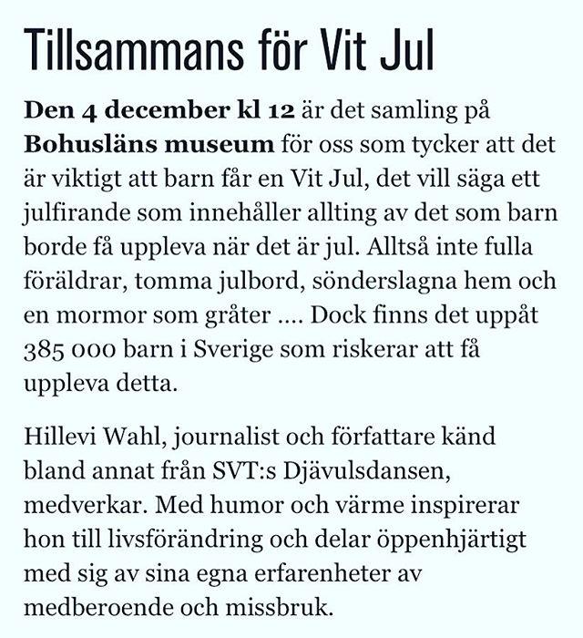 Vit jul! Så självklart. På söndag föreläser jag i Uddevalla. Alla är välkomna! Http://vikingen.iogt.se/tillsammans-for-vit-jul/