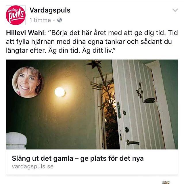 Årets första inspirationskrönika. Http://www.vardagspuls.se/inre-halsa/slang-ut-det-gamla--ge-plats-for-det-nya/