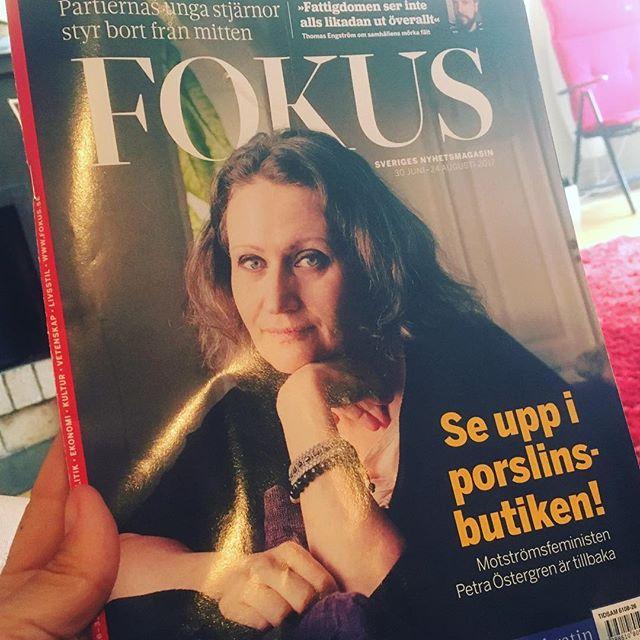 Bäst på länge i Fokus. Jättelång och asbra intervju med Petra Östergren. Tack! @tidningenfokus @cmedenborg @petraostergren