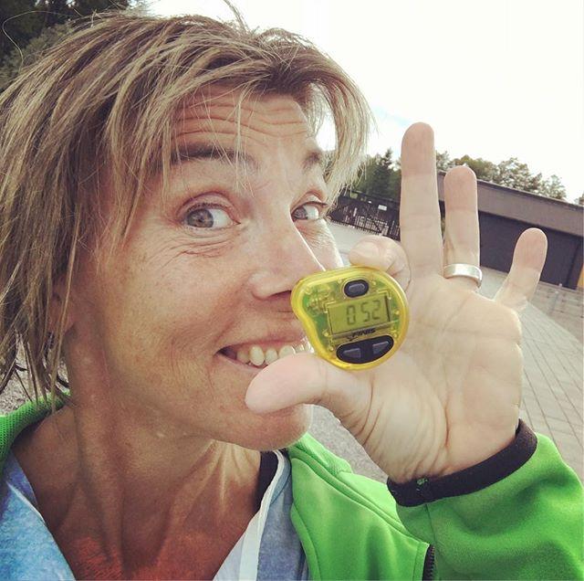 Tempotrainern! För första gången sedan yrselattacken. Galet kul! @trispot_stockholm
