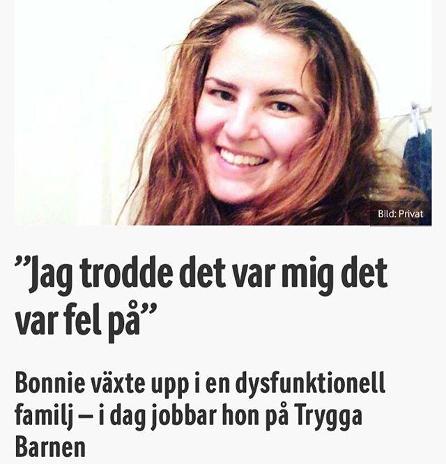 Bästa @missbrilliott - nu kan ni även läsa en del av intervjun på med Bonnie på @vardagspuls Http://www.vardagspuls.se/inre-halsa/jag-trodde-det-var-mig-det-var-fel-pa/