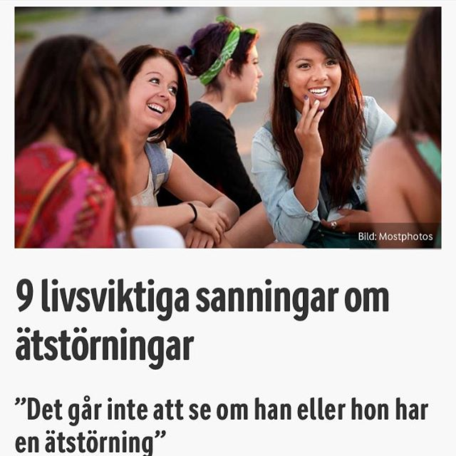 """Det finns många falska myter och fördomar kring ätstörningar. Till exempel att det mest skulle drabba unga tjejer, att det är en modegrej, är mammans fel och att """"det växer bort"""". Dessa fördomar gör att många inte söker hjälp, eller att vi runt omkring någon som drabbats känner för stor skam för att våga se och ingripa. I veckan var professor Cynthia Bulik, en av världens ledande experter inom området, i Stockholm för att sprida 9 viktiga sanningar kring anorexi, bulimi, hetsätning och andra matmissbruk. Läs mer här: Http://www.vardagspuls.se/inre-halsa/9-livsviktiga-sanningar-om-atstorningar/"""