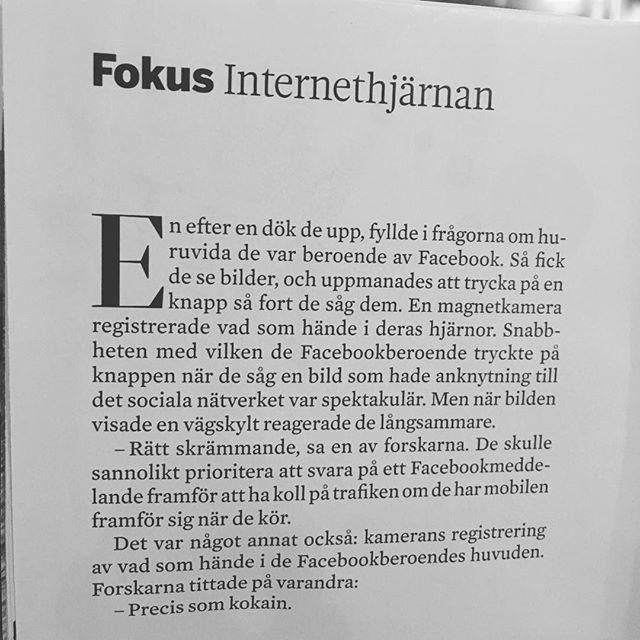 Läskigt. Ur @tidningenfokus