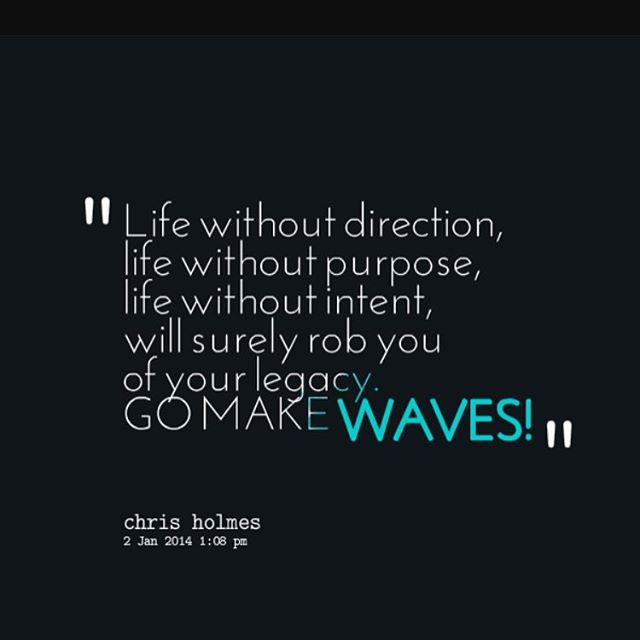 Livssyfte. Life without a purpose is like a body without a soul. Go make waves.