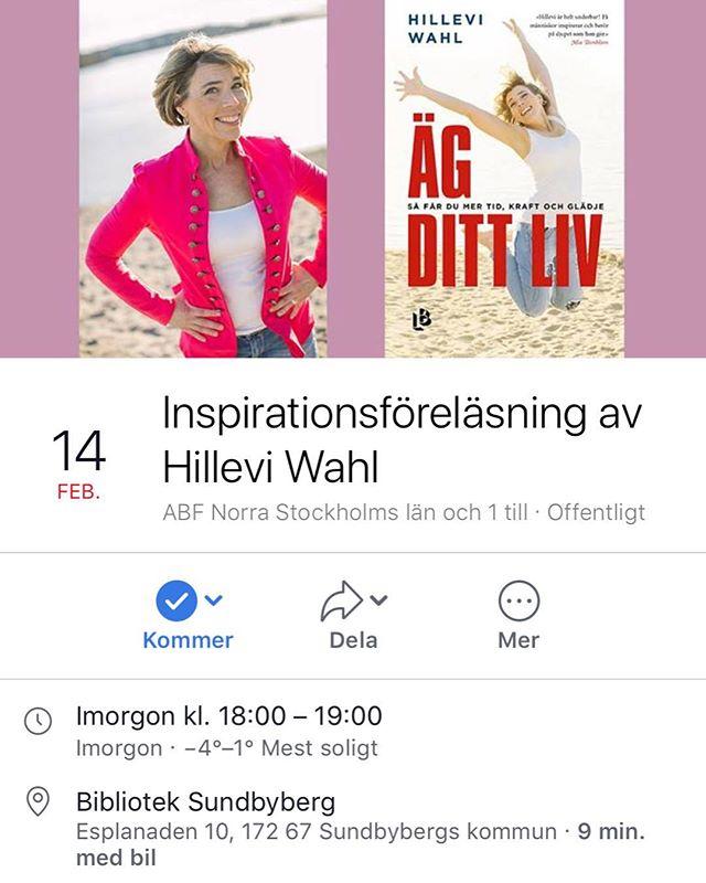 Sundbyberg! Min barndoms stad. Ni kommer väl på föreläsningen i morgon kväll, onsdag kl 18.00. Biblioteket Signalparken. Det är gratis! Bara en dån sak. ️