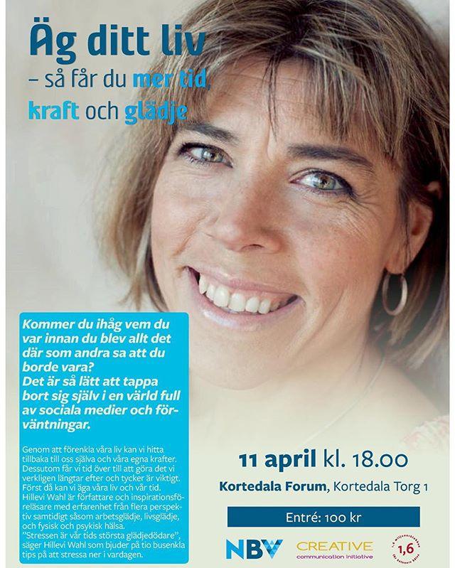 Göteborg! 11 april kommer jag till Kortedala. Varmt välkomna. ️