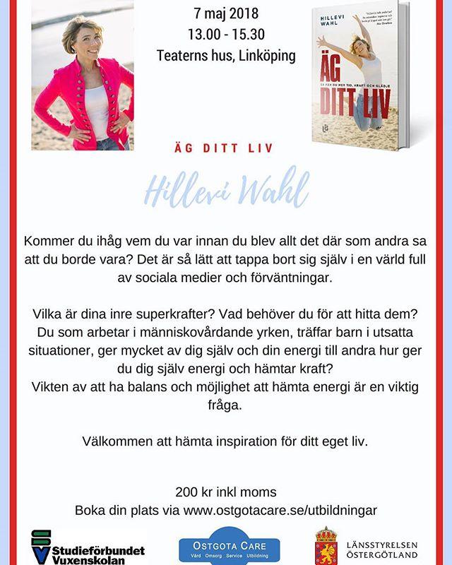 Linköping i maj! Varmt välkomna. Det här kommer att bli riktigt bra och stort och fint. ️ @studieforbundet_nbv @agneta_ostgota_care_utbildning