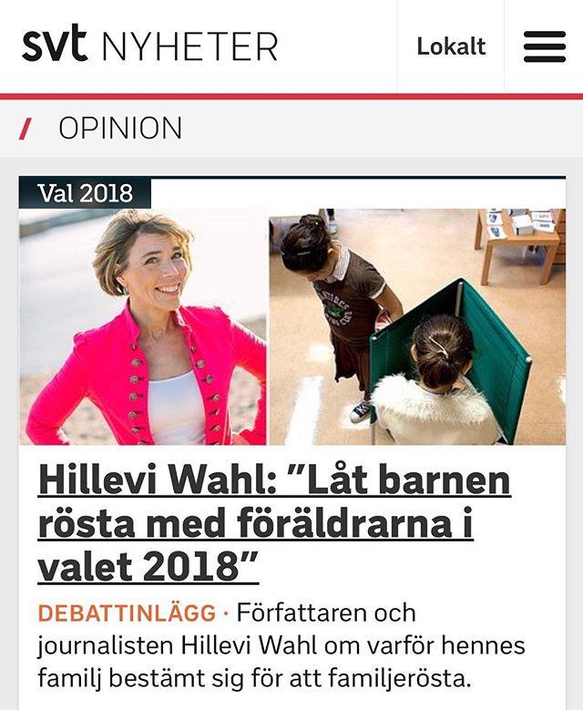 Känns valet svårt - ta hjälp av barnen. https://www.svt.se/opinion/lat-barnen-rosta-at-foraldrarna-i-valet-2018