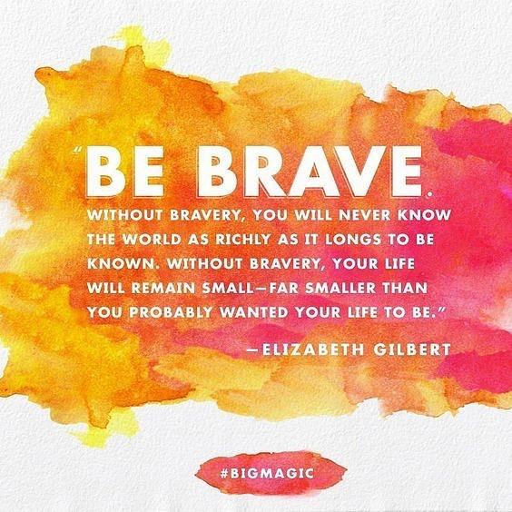 """Jag och Lykke har som """"sommarjobb"""" att göra en modig sak varje dag. I det stora eller det lilla. Och skriva ner det. Vad ska du göra för något modigt i dag?"""
