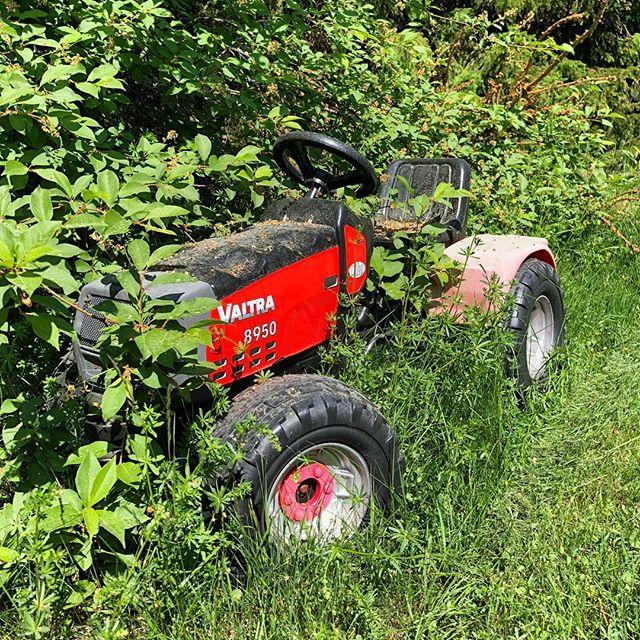 ...och egen traktor, driven på ren entusiasm.