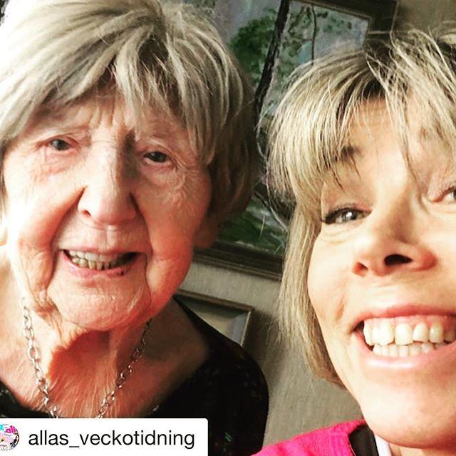 Det har hänt mycket för kvinnokroppen på hundra år. Att lyssna på @123bojan är trösterikt och väldigt roligt. @allas_veckotidning with @get_repost ・・・ Förra året gjorde Dagny, 106 år, succé som sommarpratare. Lyssna på henne när hon intervjuas av @hilleviwahl i - allas.se/kroppspodden